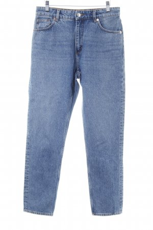 Monki Straight-Leg Jeans blau Casual-Look
