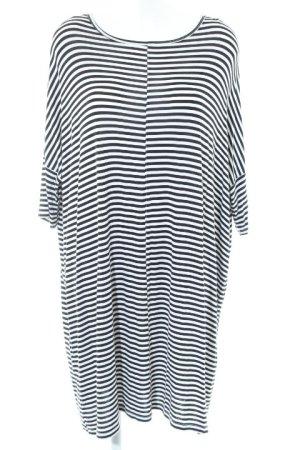 Monki Stretch Dress black-white striped pattern casual look