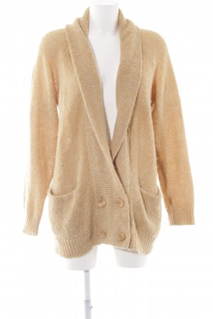 Monki Strick Cardigan camel meliert Casual-Look