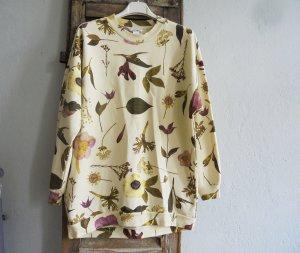 Monki Sweatshirt jaune clair coton