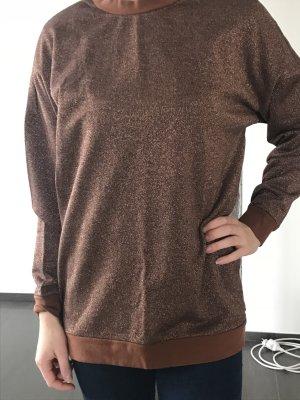 Monki sweater, overzise, Bronze