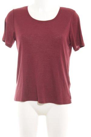 Monki T-shirt carminio stile classico