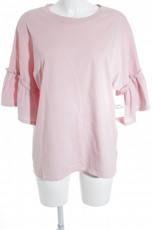 Monki T-Shirt rosa Romantik-Look