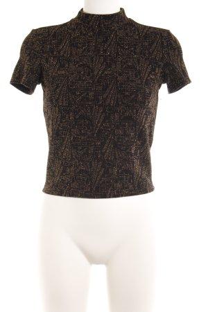 Monki T-shirt nero-oro modello web stile casual