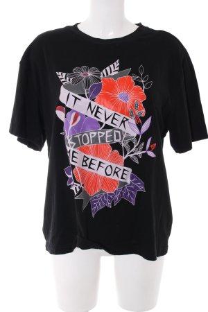 Monki T-Shirt Motivdruck Casual-Look