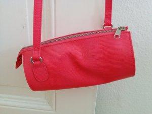 Monki Tasche Umhängetasche Abendtasche Zylinder mit Struktur neon pink NEU