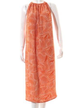 Monki Trägerkleid orange-weiß abstraktes Muster Beach-Look