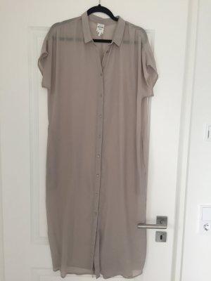 Monki Transparente lange Bluse Beige