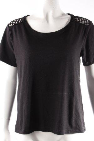 Monki Tshirt schwarz