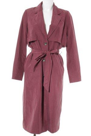 Monki Between-Seasons-Coat dark red street-fashion look