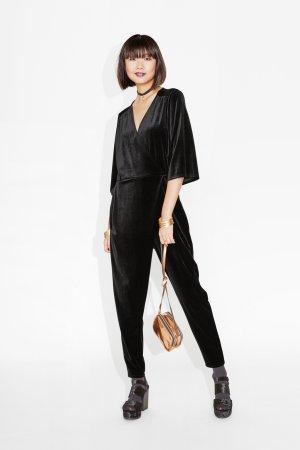 Monki Velvet Jumpsuit Samt Overall Blogger Cosy M Street Style