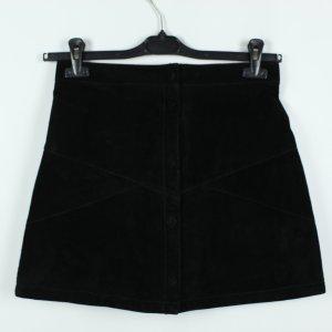Monki Falda de cuero negro Gamuza