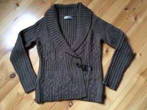 monnari Strickjacke Pullover Alpaka Wolle Braun Gr. L wie neu!