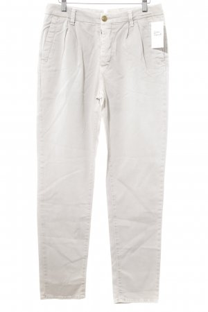 Monocrom Pleated Trousers oatmeal business style
