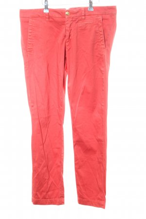 Monocrom Chinohose rot Casual-Look