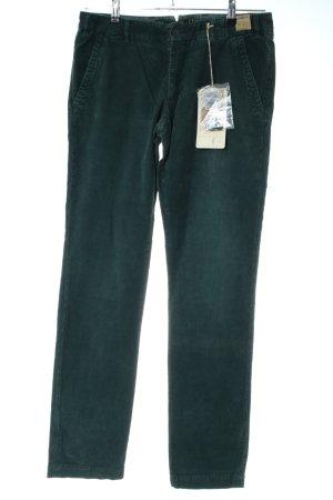 Monocrom Pantalone di velluto a coste verde stile casual