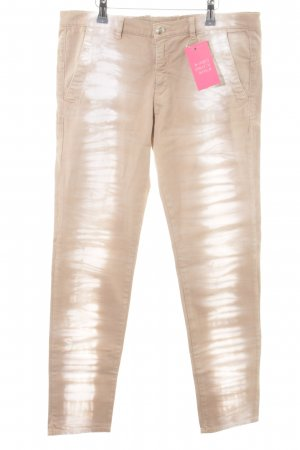 Monocrom Drainpipe Trousers beige-cream color gradient casual look