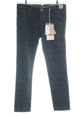 Monocrom Slim Jeans schwarz-khaki abstraktes Muster Casual-Look
