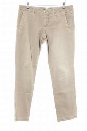 Monocrom Slim Jeans camel Street-Fashion-Look