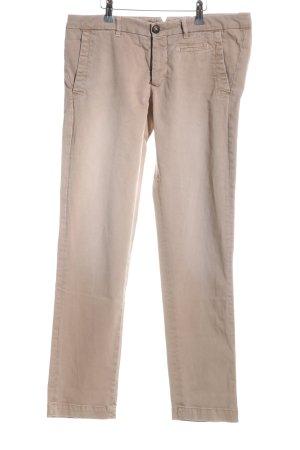 Monocrom Slim Jeans creme Casual-Look