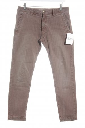 Monocrom Straight-Leg Jeans dunkelbraun-braun Streifenmuster klassischer Stil