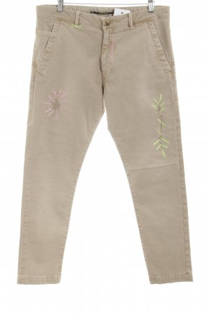 Monocrom Straight-Leg Jeans creme Casual-Look