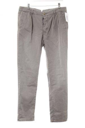 Monocrom Pantalone elasticizzato marrone-grigio stile casual