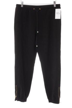 Monocrom Joggingbroek zwart casual uitstraling