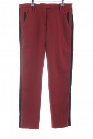 Monocrom Woolen Trousers black-dark red business style