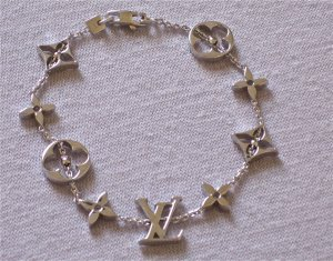 Louis Vuitton Pulsera blanco-color oro oro verdadero