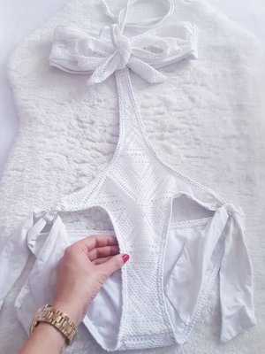 Made in Italy Monokini white