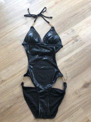 Zwempak zwart-goud
