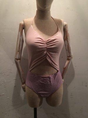 Monokini vieux rose-mauve