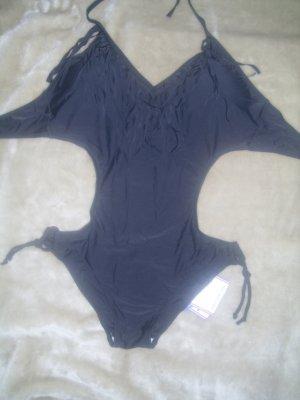 Monokini mit Fransen in schwarz Größe XL Neu