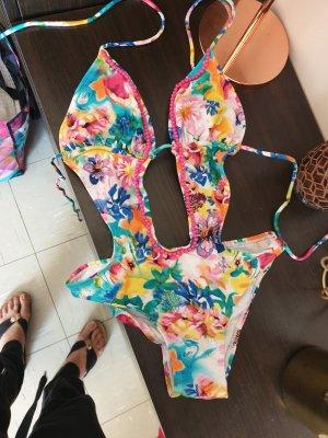 b.p.c. Bonprix Collection Monokini multicolore Tessuto misto