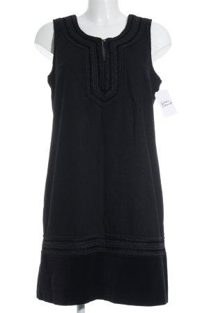 Monsoon A-Linien Kleid schwarz Ornamentenmuster Elegant