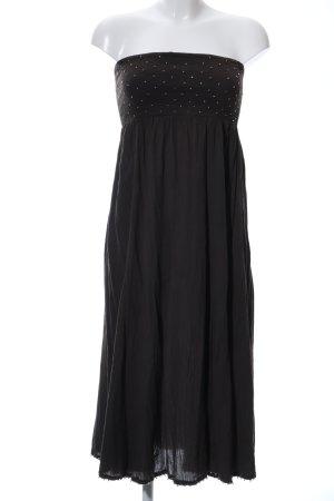 Monsoon Vestido bandeau negro elegante