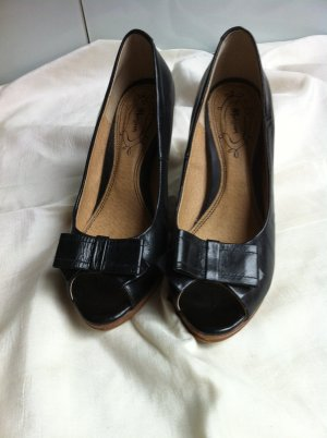 Monsoon Peep Toe Pumps black