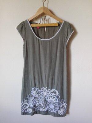 Monsoon Dress Gr. D36 grünes Kleid mit Perlchen-Stickerei