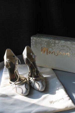 Monsoon HighHeels Hochzeit Wedding Leder Brautschuhe Vintage Blogger