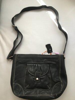 Monsoon Lederhandtasche, schwarz, NEU mit Etiketten!