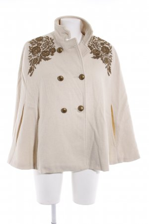 Monsoon Poncho hellbeige-goldfarben florales Muster Casual-Look