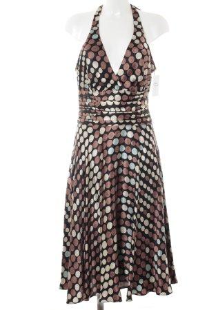 Monsoon schulterfreies Kleid Punktemuster klassischer Stil