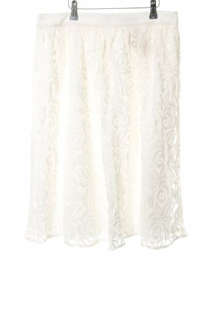 Monsoon Lace Skirt natural white floral pattern casual look