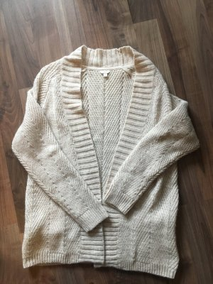 Monsoon Coarse Knitted Jacket natural white-cream mixture fibre