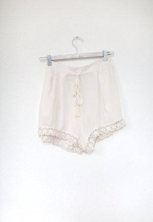 Monsoon White Isle Collection Beach Shorts Spitze Ibiza nude Gr. M Baumwolle