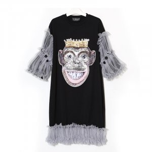 Monster Kleid in der Uni Size