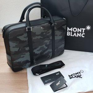 Montblanc Leder Aktentasche laptoptasche Businesstasche Umhängetasche