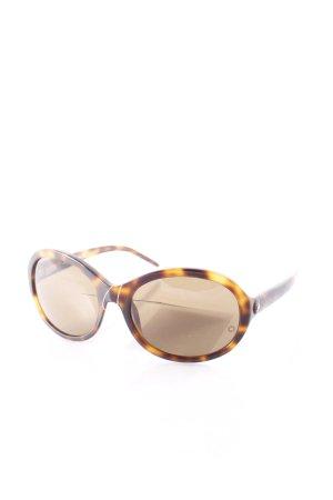Montblanc ovale Sonnenbrille braun Tortoisemuster Retro-Look