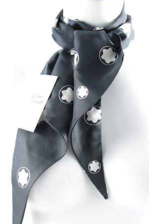 Montblanc Seidentuch schwarz-weiß abstrakter Druck Elegant